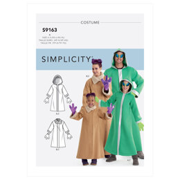 Simplicity Unisex Children's, Teens' & Adults' Costumes S9163 - Sewing Pattern