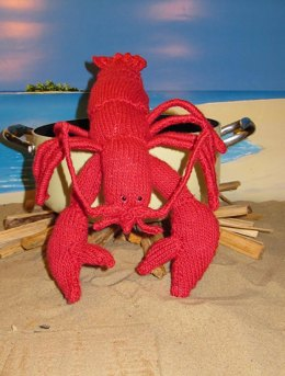 Lottie Lobster  Crustacean Toy knitting pattern