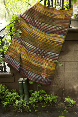 Slip Stitch Afghan in Lion Brand Wool-Ease and Amazing - L32005