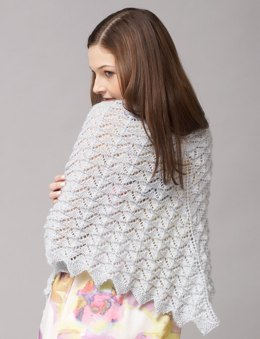 Chevron Lace Shawl or Scarf in Patons Lace Sequin