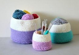 PDF20 Three Colour Block Baskets