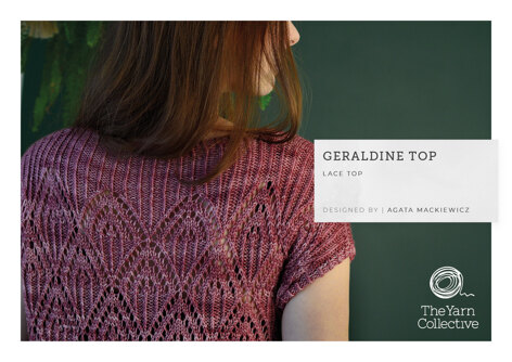 Geraldine Top by Agata Mackiewicz in The Yarn Collective - Downloadable PDF