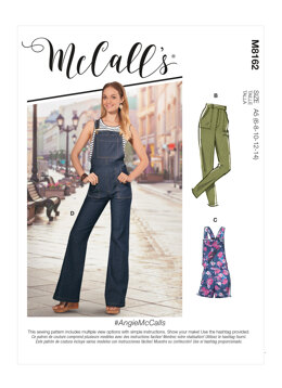 McCall's AngieMcCalls - Misses' Flared Jeans, Overalls, Skinny Jeans & Shortalls M8162 - Sewing Pattern