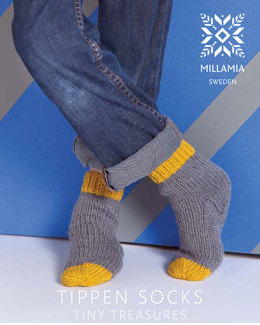 Tippen Socks in MillaMia Naturally Soft Aran - Downloadable PDF