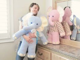 Josefina and Jeffery Big Amigurumi Elephants Crochet Pattern
