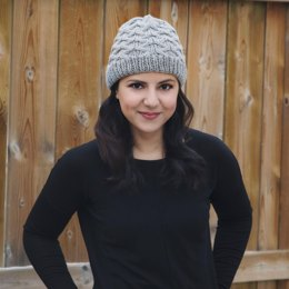 Diamond Cabled Winter Hat