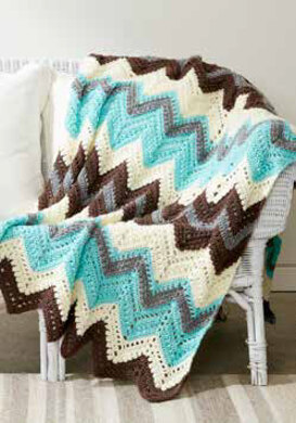 Cabin in The Woods Afghan in Caron Simply Soft and Simply Soft Heathers - Downloadable PDF