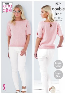 Sweaters in King Cole Cotton Top DK - 5374pdf - Downloadable PDF