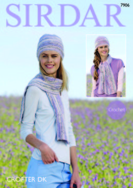 Hats and Scarves in Sirdar Crofter DK - 7906 - Leaflet
