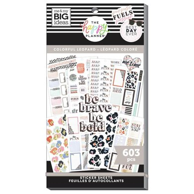 Me & My Big Ideas The Colorful Leopard 30 Sheet Sticker Pad
