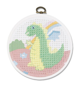 DMC The Dragon Cross Stitch Kit (with 5in plastic hoop) - 5in