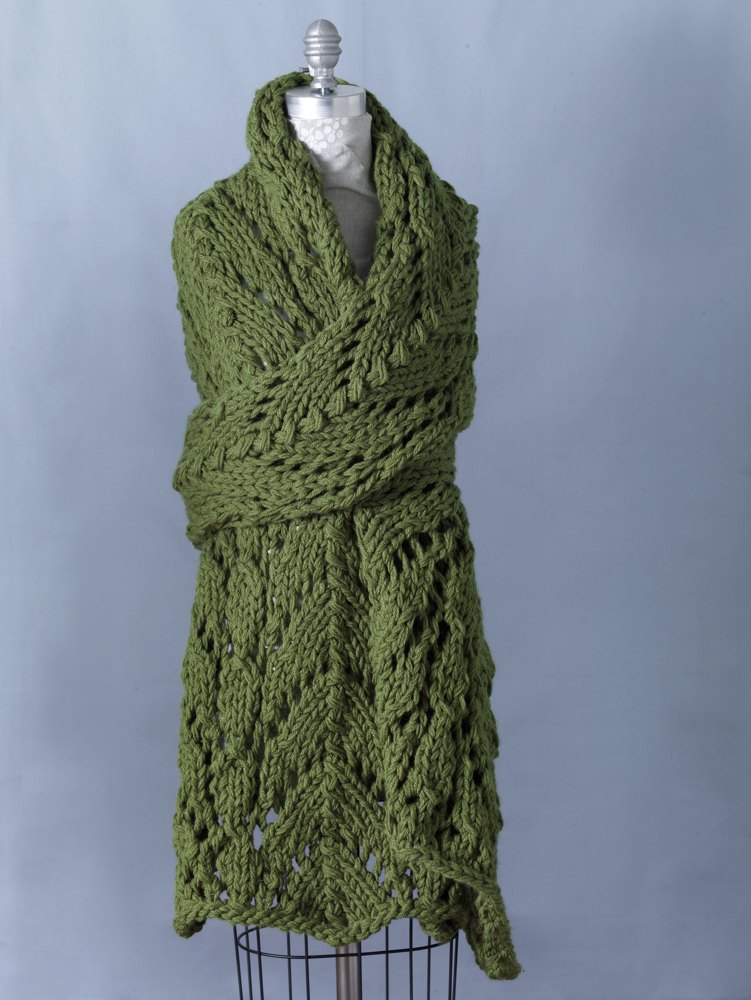 Spring Lace Shawl In Lion Brand Vanna S Choice 81058ad