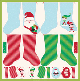 Moda Fabrics Cut Sew Create Christmas Stocking Ornaments Panel