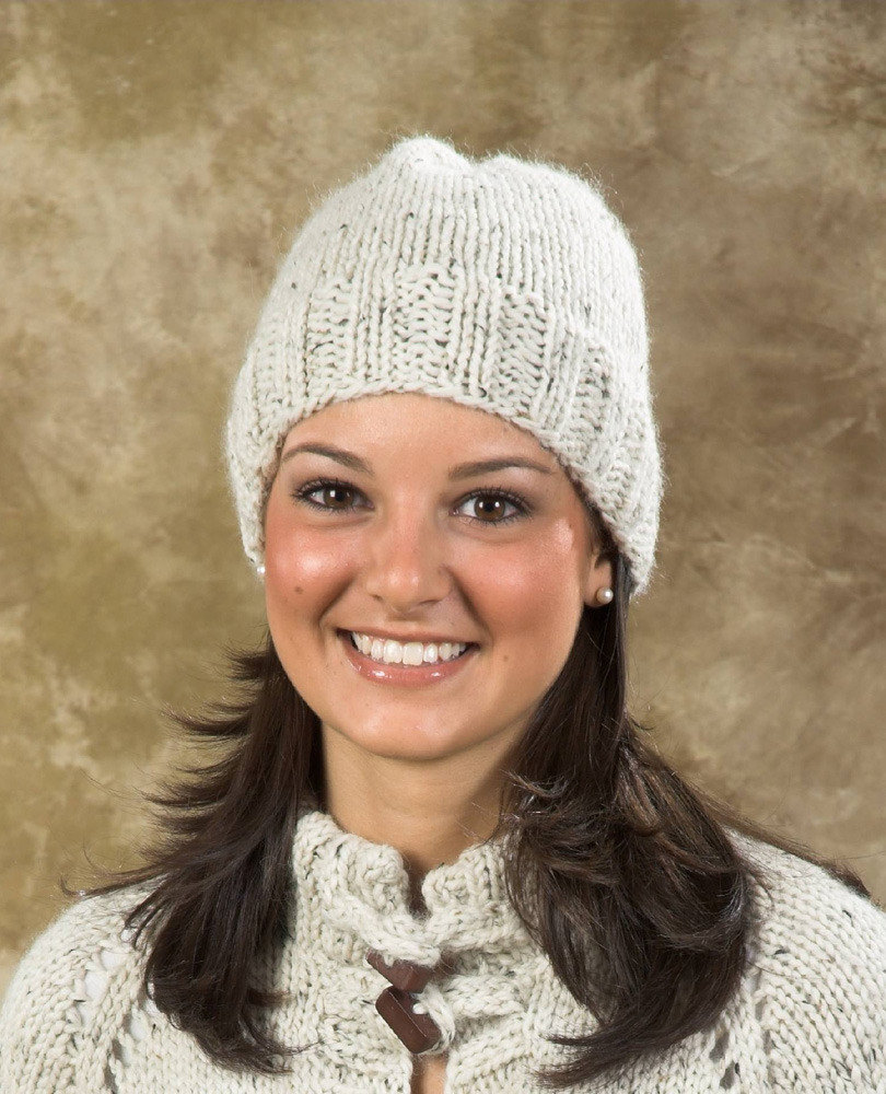 Easy Hat in Plymouth Baby Alpaca Grande - F282 | Knitting Patterns ...