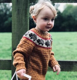 Textured Jumper With Hedgehog Yoke