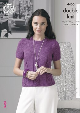 Sweater & Top in King Cole Glitz DK - 4400 - Downloadable PDF
