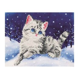 Diamond Dotz Kitten in the Snow Diamond Dotz Kit