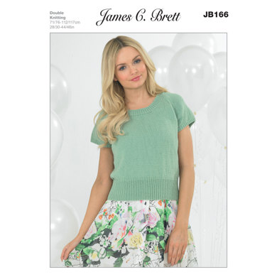 Ladies' Tops in James C. Brett Cotton On DK - JB166