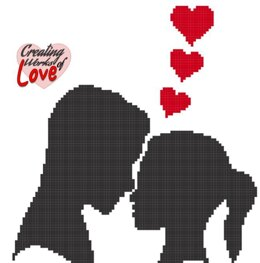 Lover Man And Woman Silhouette  Stitch Graphgan