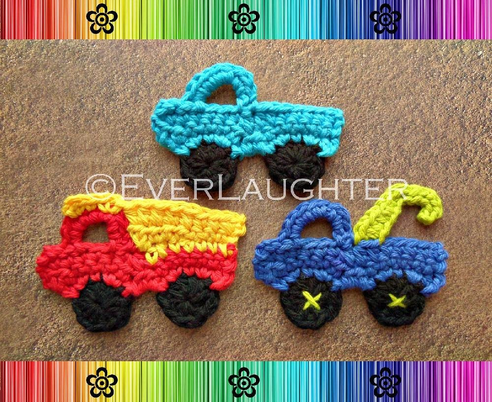 Truck Applique 3 Designs Crochet Pattern By Everlaughter