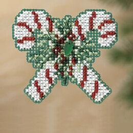 Mill Hill Candy Canes Fridge Magnet Cross Stitch Kit - Multi