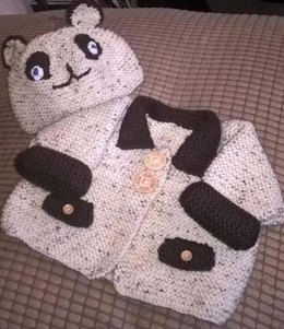 Bear Coat and Hat approx 3-6mths