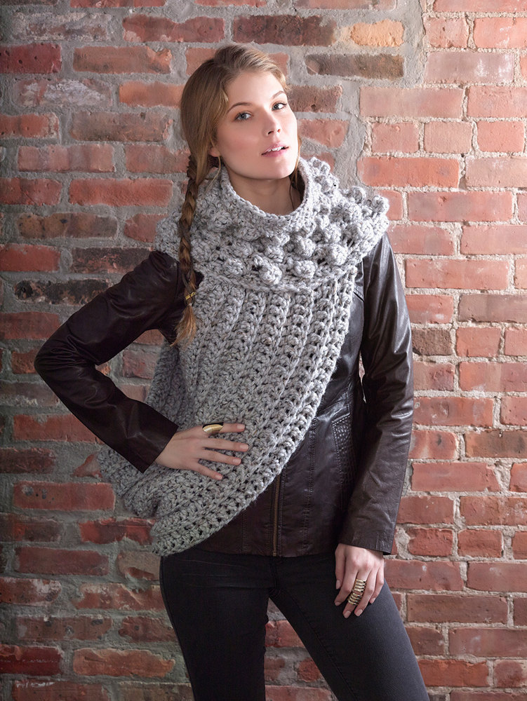 District 12 Cowl Wrap In Lion Brand Wool Ease Thick Quick