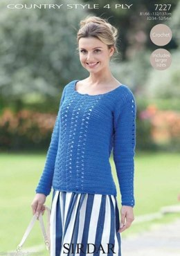 Sweater in Sirdar Country Style 4 Ply - 7227