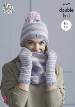 Snoods , Hats, & Mitts in King Cole Baby Alpaca Dk - 4869 - Downloadable PDF