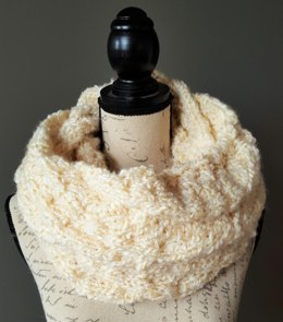 Ripple Cable Cowl Infinity Scarf