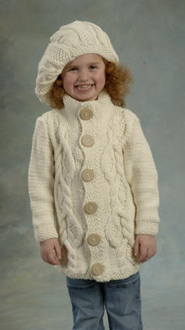 Jacket and Hat in Plymouth Yarn Jeannee Chunky - 1891 - Downloadable PDF