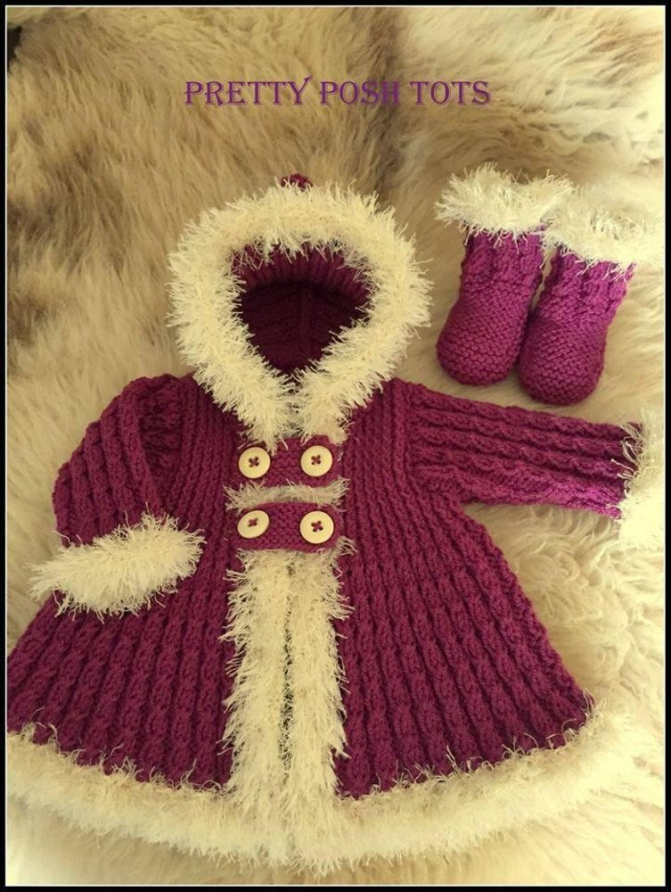 Little eskimo coat set Knitting pattern by posh tots