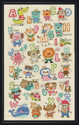 Design Works Cute Animals ABC Cross Stitch Kit