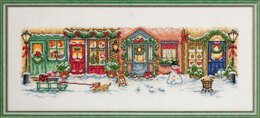 Permin Christmas Street Cross Stitch Kit - 71cm x 30cm