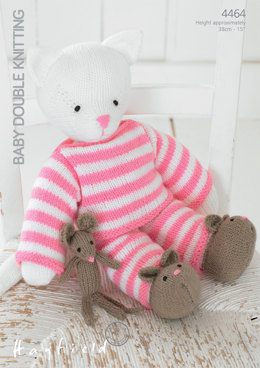 Kitty Toy in Pyjamas in Hayfield Baby DK - 4464