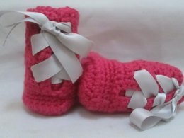 Lace-Up Baby Boots