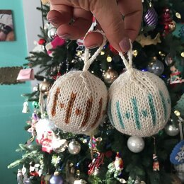 Knitted Tree Baubles