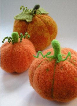 Felted Harvest Pumpkin