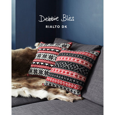 """Scandinavian Cushions"" : Cushion Knitting Pattern for Home in Debbie Bliss DK 