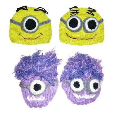 Despicable Me Knitted Minion Hat Pattern Knitting Pattern By Jillian