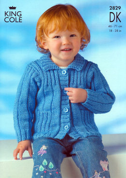Jacket and Sweaters in King Cole DK - 2829