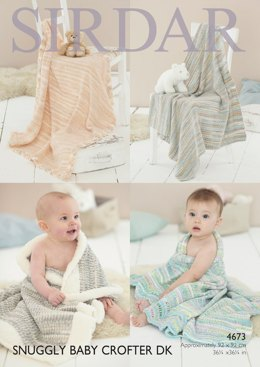 Blankets in Sirdar Snuggly Baby Crofter DK and Snowflake DK - 4673- Downloadable PDF