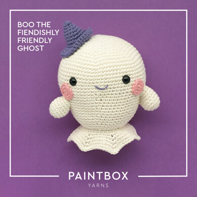 Boo the Fiendishly Friendly Ghost - Free Toy Crochet Pattern For Halloween in Paintbox Yarns Cotton Aran by Paintbox Yarns
