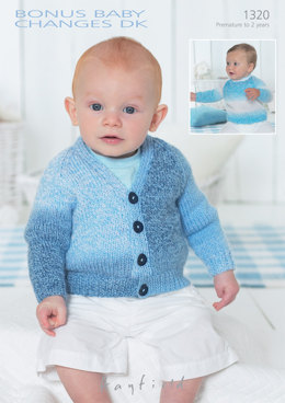 Sweater and Cardigan in Hayfield Bonus Baby Changes DK - 1320