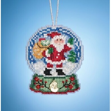 Mill Hill Charmed Snow Globes - Santa Globe - 2.5inx3.25in
