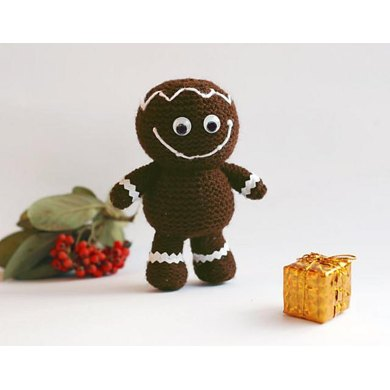 Gingerbread Man Pdf Knitting Pattern Christmas Ornament Knitting
