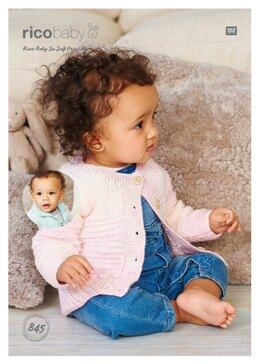 Textured Cardigans in Rico Baby So Soft Print DK - 845 - Downloadable PDF