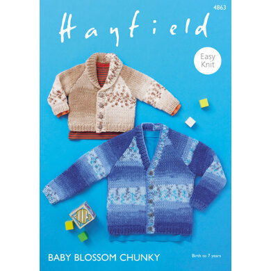 Cardigans in Hayfield Baby Blossom Chunky - 4863 - Downloadable PDF