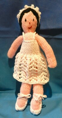 Ballerina Knitted Doll