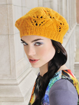 Cafe Beret in Blue Sky Fibers Techno